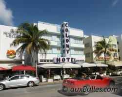 L'hotel le plus photographié de tout South Beach, le Colony Hotel.