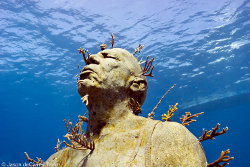 'Man on fire' une oeuvre de Jason deCaires Taylor